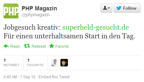 Twitter PHP Magazin